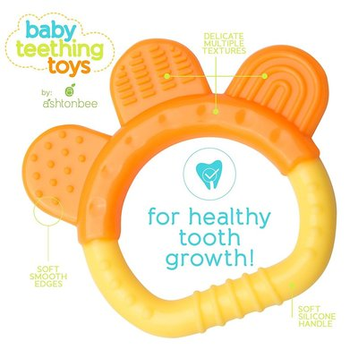 ashtonbee baby madical grade silicone teething toys for healthy tooth growth