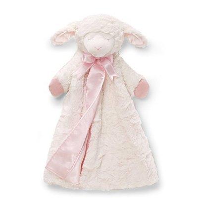 baby gund winky lamb huggybuddy 17 inch baby blanket in pink color