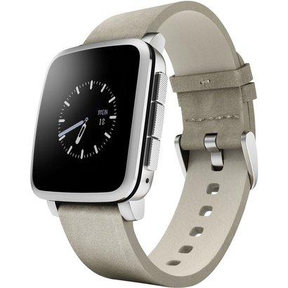 pebble time steel smartwatch for android and iphone smartphones includes pebble health, activity and sleep tracker