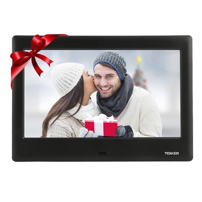 tanker digital audio video photo frame with lcd screen, auto-rotate function, clock and calendar, photo and music playback includes remote control