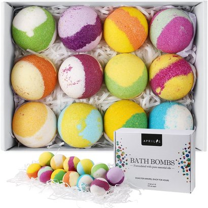 aprilis bath bombs formulated with pure essential oils perfect gift ideas for all occasions a set of 12 pcs