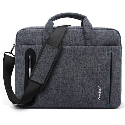 coolbell oxford nylon laptop messenger bag with 210d waterproof polyester lining fits up to 15.6 inches laptop