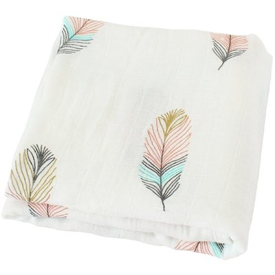 life tree bamboo muslin swaddle breathable multi-use blanket 47 x 47 inch