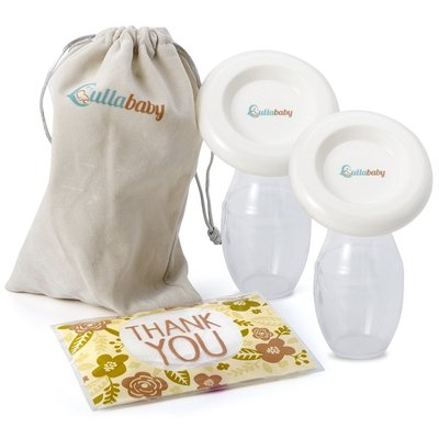 lullababy lightweight and portable silicone manual breastmilk pump includes dust proof lid and carrying pouch