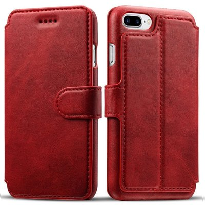 pasonomi iphone 8 plus and iphone 7 plus wallet folio case support qi wireless charging with card, money slots and adjustable kickstand