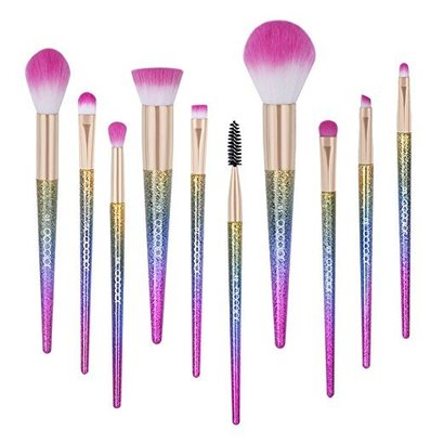 docolor dream in color fantasy makeup brushes set with eco-friendly handles includes 10 brushes with beautiful box