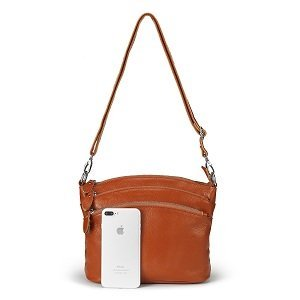 lecxci small leather cross body bag, shoulder purse for women