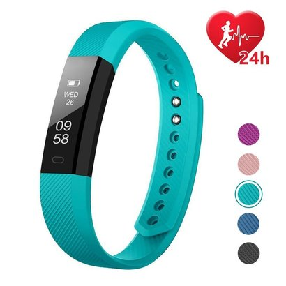 letscom id115hr fitness activity tracker, slim heart rate monitor watch for all day activity recording