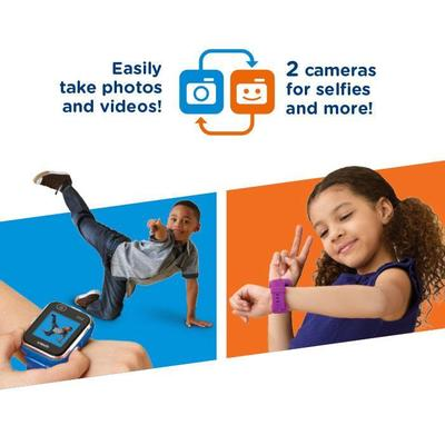 vtech dx2 kidizoom smartwatch for kids with two cameras, photo and video effects and five games