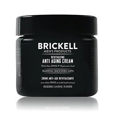 brickell men's revitalizing anti-aging cream with aloe, dmae and hyaluronic acid