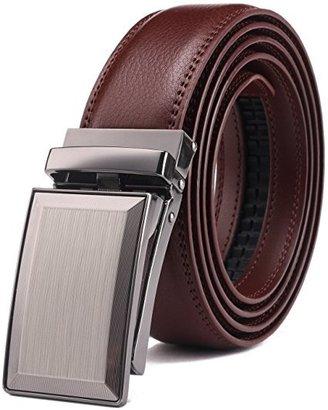 bulliant genuine leather click ratchet belt for men