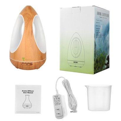 diffuserlove 550 ml aromatherapy diffuser, natural air purifier and humidifier with three-sided adjustable colorful led light