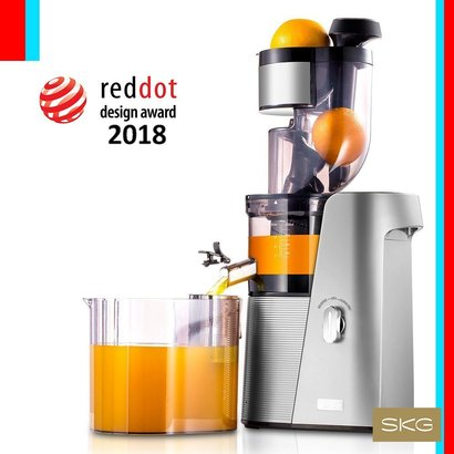 """skg tritan materials large caliber juicer with powerful 250w ac motor and two openings 3.15""""-1.75"""""""