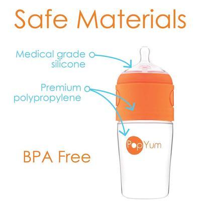 popyum bpa free anti-colic single handed baby bottle 9 oz (270 ml) capacity 3 in pack
