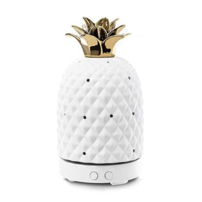 Design Accents Pineapple Shape Ceramic Essential Oil Diffuser