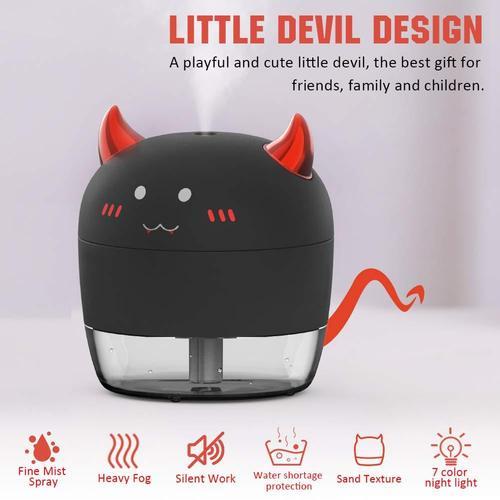 ALLYAG Little Devil 200mL Cool Mist Portable Mini Humidifier for Kids Bedroom