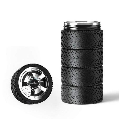 MISHOWNET Tire Stainless Steel Mug the Best Gift for Car Lovers