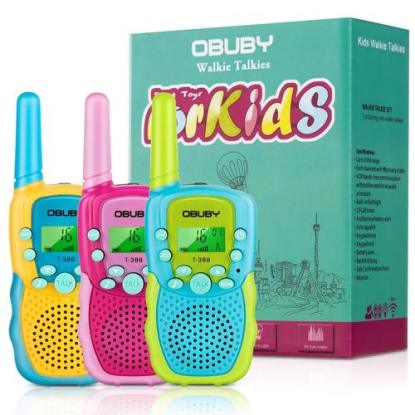 Obuby Walkie Talkie for Kids with 3 km Range and 22 Channels Makes Perfect Gift for Children