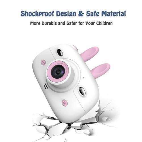 WELUV 2.4 inches Shockproof Rabbit Kids Digital Camera in Cute Gift Package