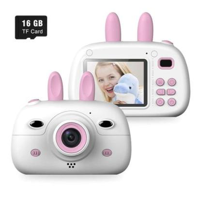 WELUV 2.4 inches Shockproof Rabbit Kids Digital Camera includes 16GB Memory Card