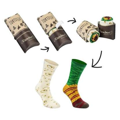 mexican wrap novelty socks for woman and man by rainbow socks