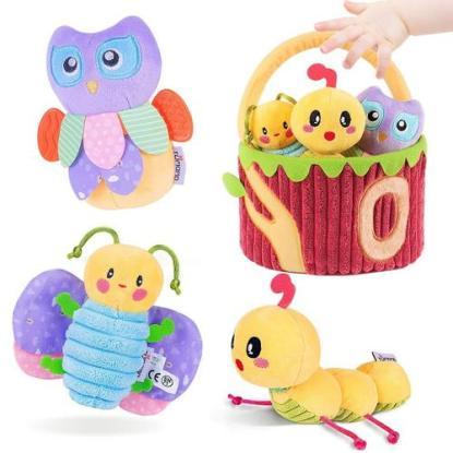 tumama basket of plush baby toys