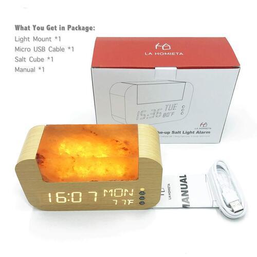LA HOMIETA USB Wake-up Salt Light Alarm Great Gift