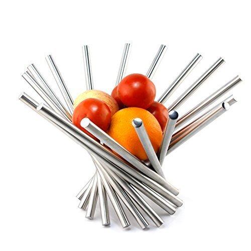 LANDTOM large stainless steel fruit or veggies bowl unique housewarming gift