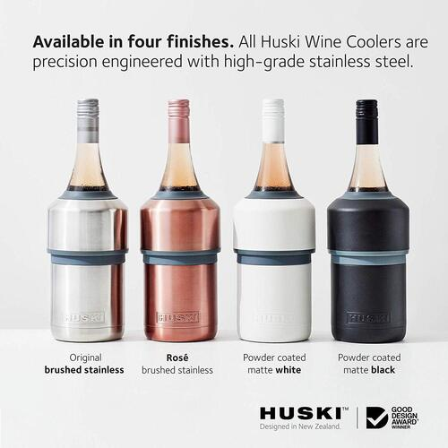 Stainless Steel Vacuum Insulated and Double Walled Wine and Champagne Adjustable Height Bottles Cooler by Huski