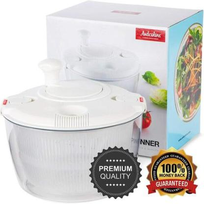 Andcolors BPA-free Salad Spinner with Large Basket Size of 4.7 qt