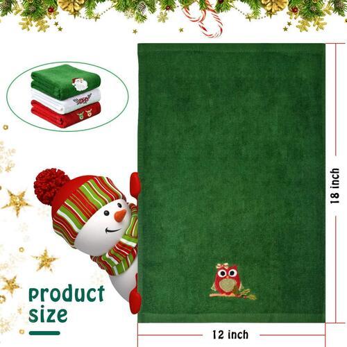 Christmas 3pcs Soft Cotton Towel by Yuntec