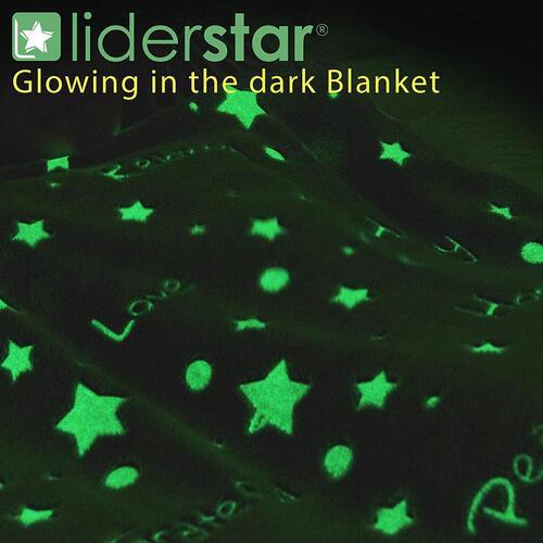Glowing Throw Blanket by LIDERSTAR
