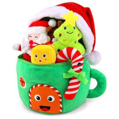 My First Christmas Santa's House Keepsake 6 Piece Soft Play Set from TEYTOY