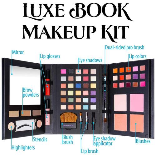 SHANY Luxe Book Makeup Portable Palette Set