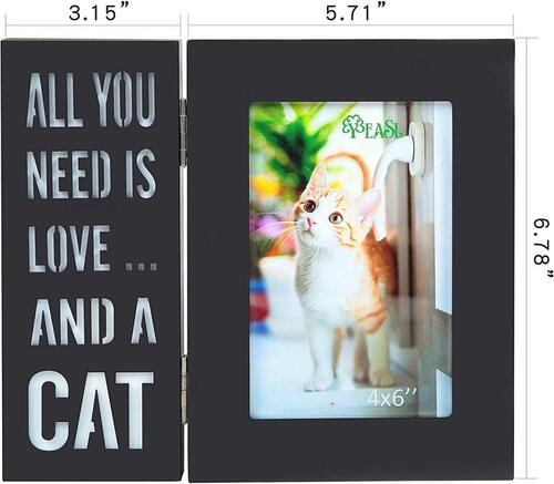 YEASL wood pet picture frame with LED lights the best dog or cat lovers gift