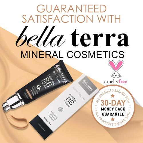 bella terra cosmetics 3 in 1 pure and natural weightless makeup foundation bb cream