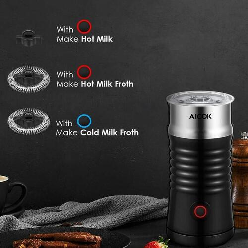 AICOK MMF- 808 BPA-free Automatic Stainless Steel Milk Frother