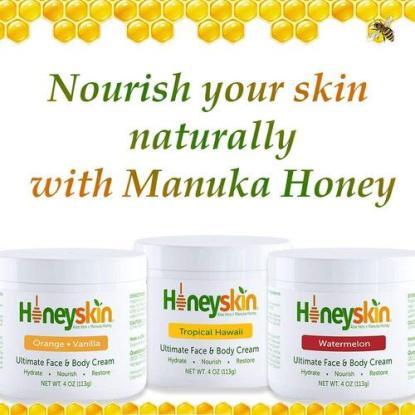 Honeyskin 4oz Aloe Vera and Manuka Honey Ultimate Face and Body Cream for All Skin Types