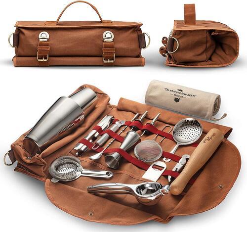 Mixology & Craft 17 pieces bartender bag set