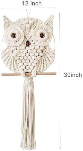 Achart Macrame Owl Wall Hanging includes 2 hook
