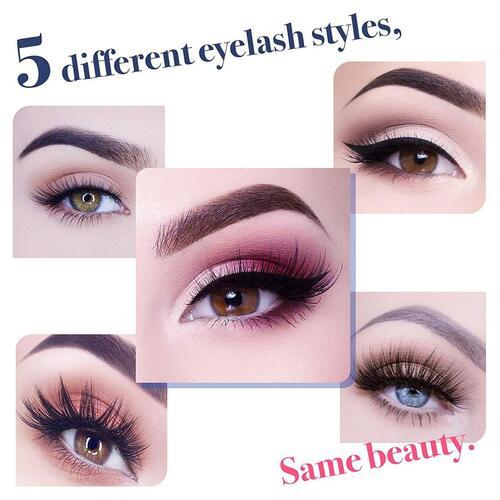 Arishine no glue 5 pairs magnetic eyelashes with eyeliner include storage case
