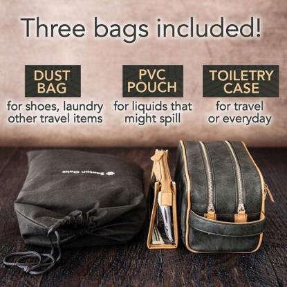 Saxton Oaks Must-have Toiletry Bag Organizer Set for Men