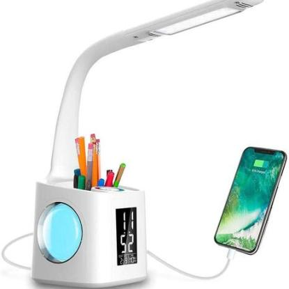 Wanjiaone Dimmable LED Desk Lamp with Pen Holder