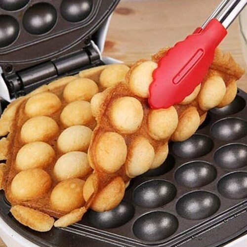 StarBlue 640W Hong Kong Style Bubble Waffle Maker with Overheat Protection and 180 degrees Flipside for Baking Evenly