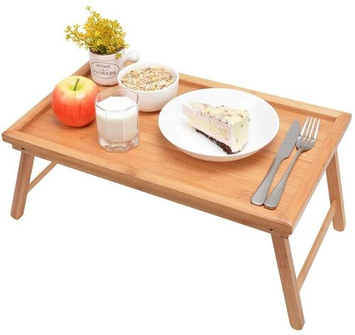 Zhuoyue Bamboo Multi-purpose Bed Tray with Foldable Legs