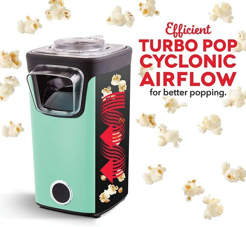 DASH Turbo Pop Popcorn Maker with removable butter melting tray