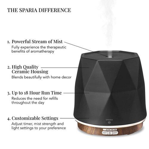 SPARIA 300ml Ceramic Essential Oil Diffuser Home Decor
