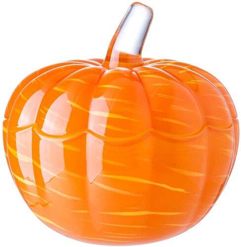 glass pumpkin shaped decorative candy jar from diamond star
