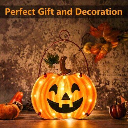 Melunar Pumpkin Lamp for Halloween Decor