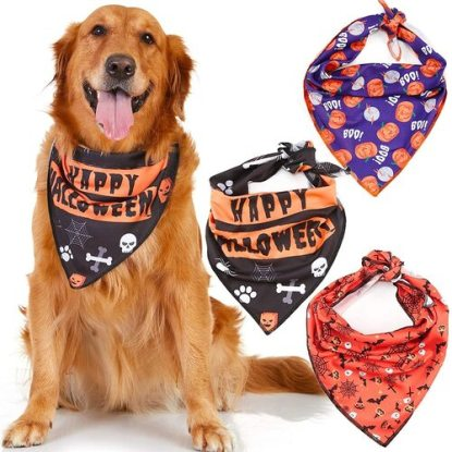 Odi Style 3 Pack Adjustable Halloween Dog Bandana